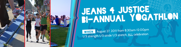 Jeans 4 justice event banners